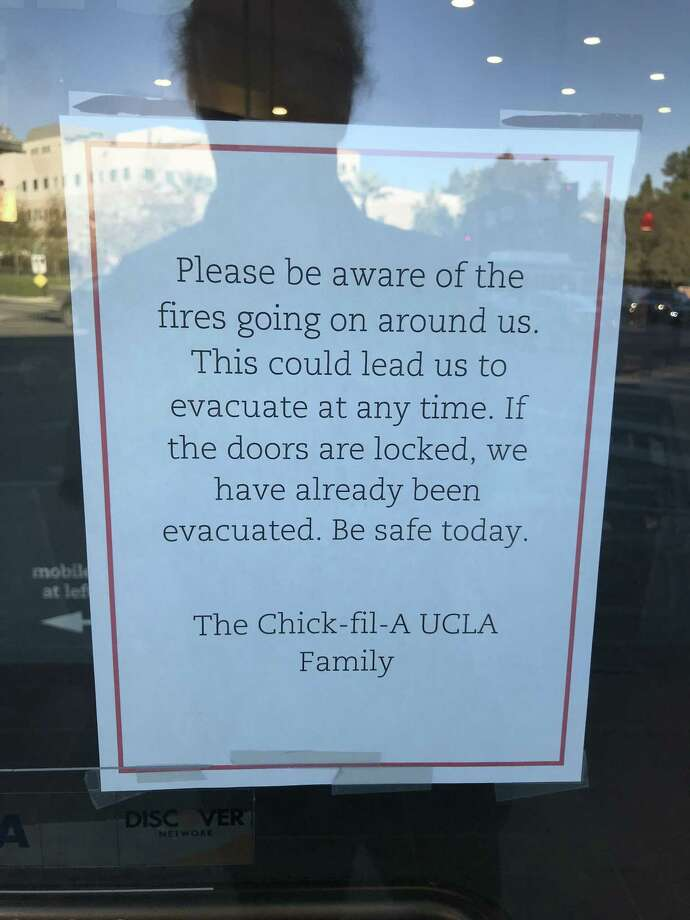 Sign in a shop window near UCLA Thursday. Photo: Steve Rubenstein / The Chronicle / /