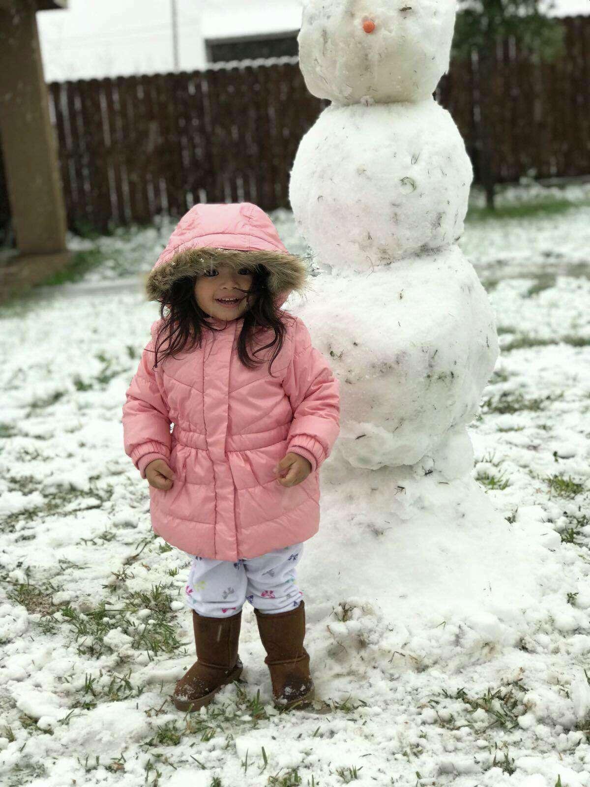 Snow fall hit Eagle Pass, Texas, Thursday, Dec. 7, 2017.