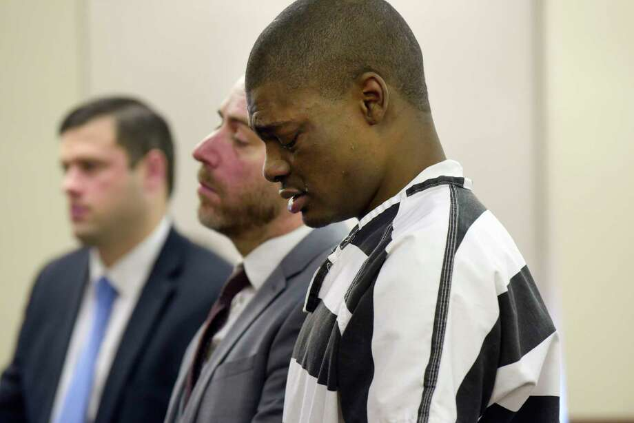 Kareem Blacknall with is attorney Brian Rounds, during Blacknall's sentencing at the Albany County Judicial Center on Thursday, Dec. 7, 2017, in Albany, N.Y.  (Paul Buckowski / Times Union) Photo: PAUL BUCKOWSKI, Albany Times Union / 20042348A