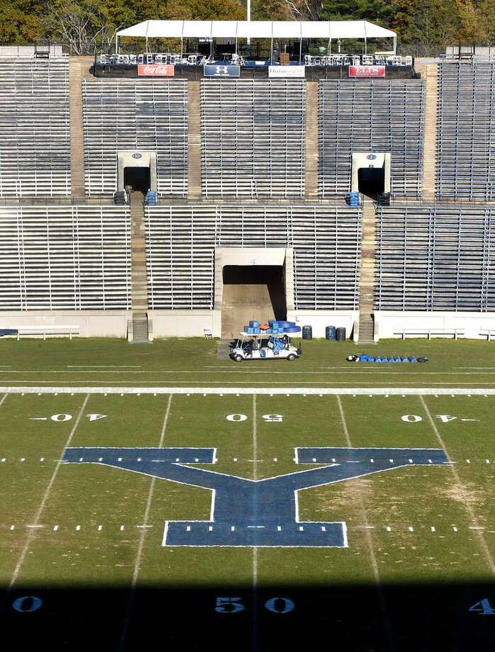 The Yale Bowl in New Haven has been the home field for the Bulldogs and could be a strong contender as a venue for any future high school state championships games. Photo: Arnold Gold / Hearst Connecticut Media