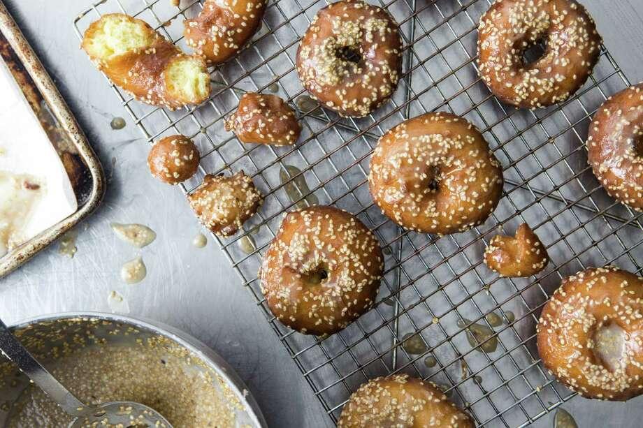 Salted Tahini Doughnuts. Photo: Photo By Jennifer Chase For The Washington Post. / For The Washington Post