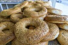 Close up of bagel shaped sesame seed bread in Jordan.  File photo of Bagels form Getty  Photo: Mint Images/Getty Images/Mint Images RF