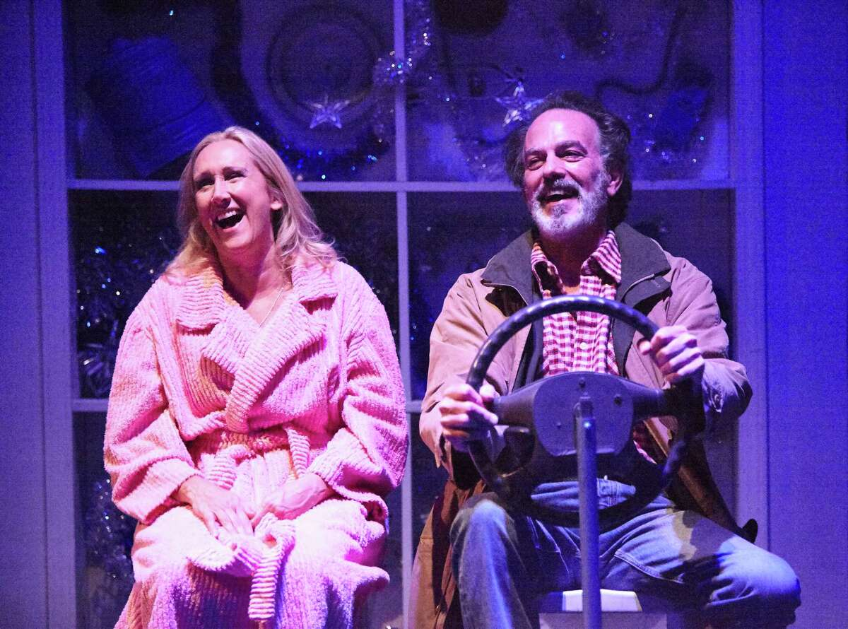 "Kim Tobin-Lehl and John Feltch in 4th Wall Theatre Co.'s ""Reckless"""