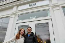 Krista and Mike Pietrafeso outside of Roost, located on 1950 Post Road in Darien, CT on Dec. 5, 2017.