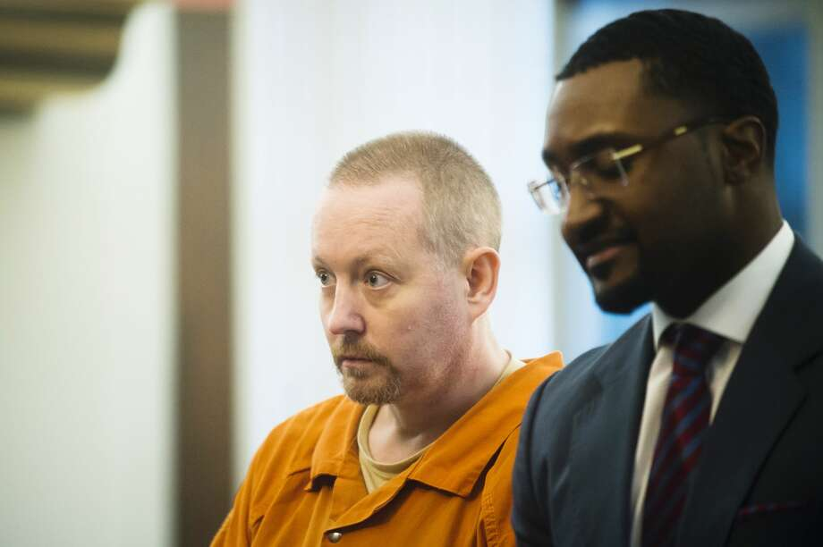 Richard Paul Watson listens to Midland County Circuit Court Judge Michael J. Beale on Thursday, Dec. 7, 2017 during his sentencing on two charges in connection with the 2015 death of 4-month-old Evelyn Legacy. (Katy Kildee/kkildee@mdn.net) Photo: (Katy Kildee/kkildee@mdn.net)