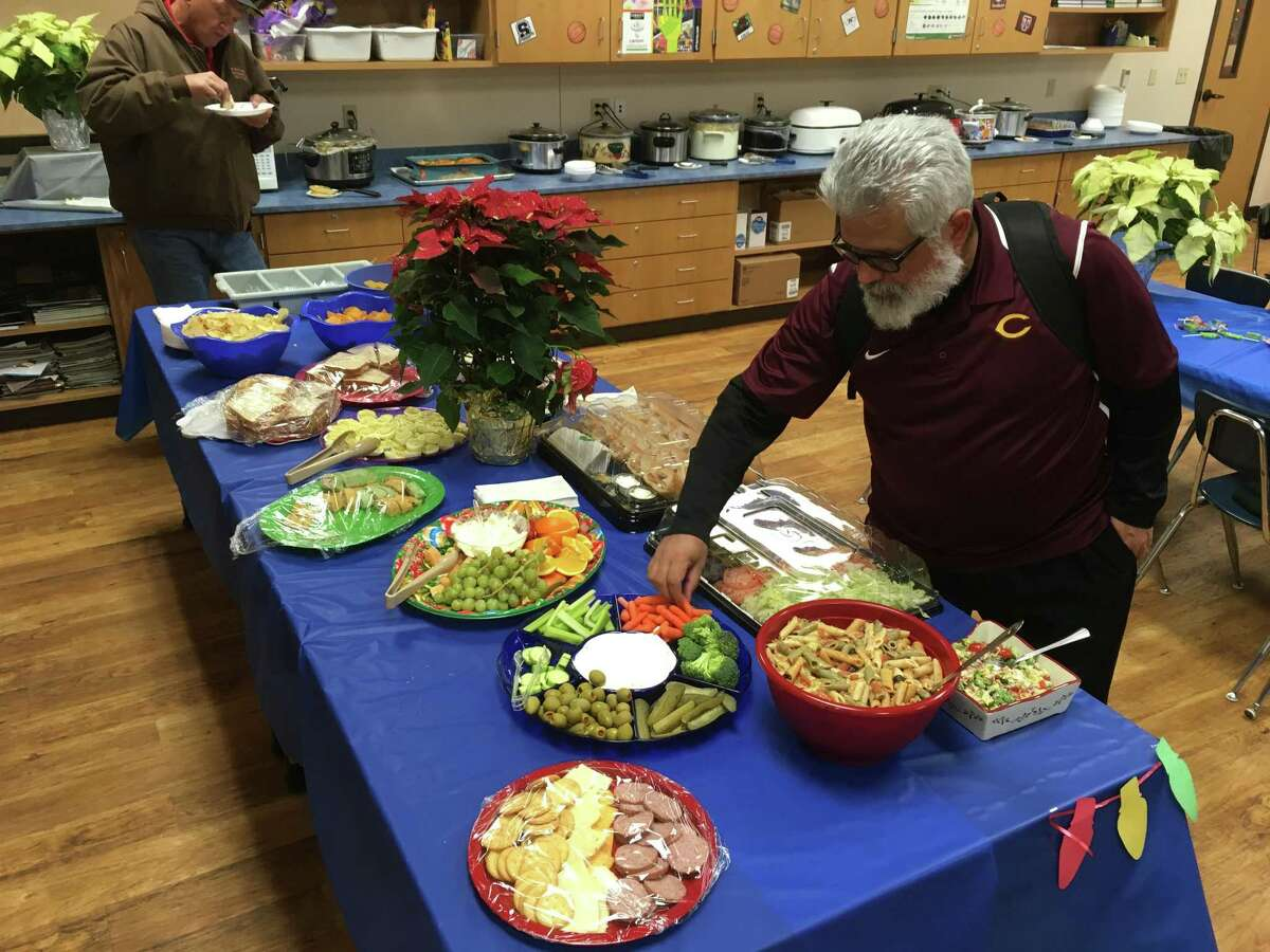 The spread prepared for coaches, game officials and visitors, for the McMullen County High basketball tournament is as diverse and expansive from crock pots of brisket to homemade cakes.