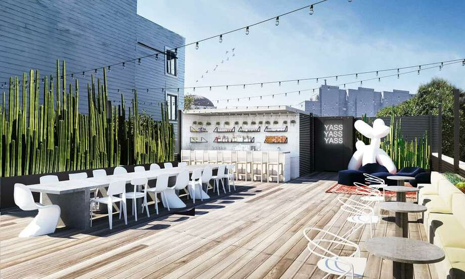 A rendering of Yass, a new San Francisco social club and co-working space backed by Peter Thiel's venture capital firm.