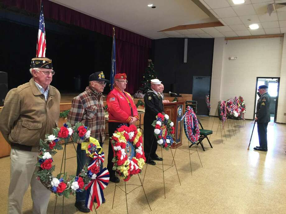 The annual ceremony marking the anniversary of the attack on Pearl Harbor was held Thursday in Torrington. Photo: Ben Lambert / Hearst Connecticut Media