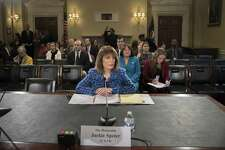 Rep. Jackie Speier appears before the Committee on House Administration during a hearing on the prevention of sexual harassment. A reader lauds women like Speier who are leading the fight against sexual misconduct throughout the nation.