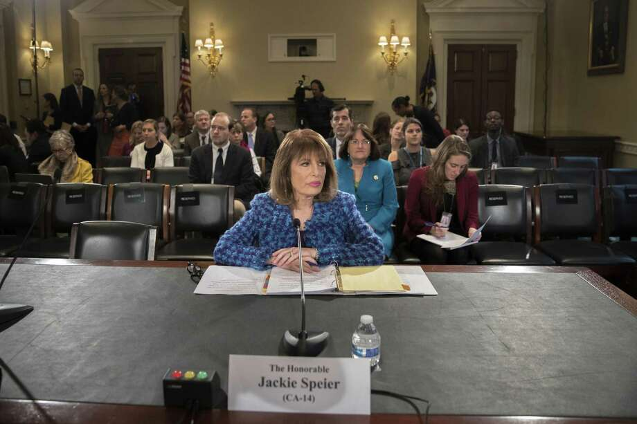 Rep. Jackie Speier appears before the Committee on House Administration during a hearing on the prevention of sexual harassment. A reader lauds women like Speier who are leading the fight against sexual misconduct throughout the nation. Photo: TOM BRENNER /NYT / NYTNS