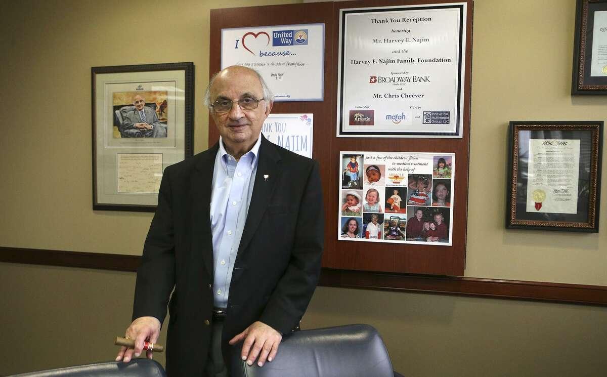 Philanthropist and businessman Harvey Najim stands Wednesday November 8, 2017 in his office.
