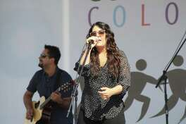 Special guest Kree Harrison performed in a mini-concert at the end of the Compassion Color 5K on Saturday. Bands Matthew Lewis and Flava opened for Harrison.