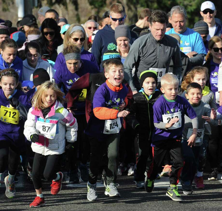 "The Seventh Annual Greenwich Alliance for Education (""Alliance"") Turkey Trot 5K and 1 Mile Fun Run/Walk at Roger Sherman Baldwin Park in Greenwich on Nov. 25. Photo: Bob Luckey Jr. / Hearst Connecticut Media / Greenwich Time"