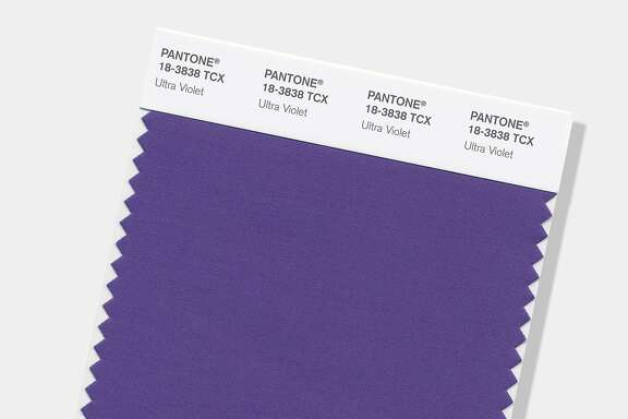 """This image provided by the Pantone Color Institute shows the Pantone Color of the Year for 2018, called """"Ultra Violet."""" The color experts at the Carlstadt, New Jersey-based Pantone say the deep purple shade was chosen to evoke a counterculture flair, a grab for originality, ingenuity and visionary thinking. Ultra Violet follows Pantone's 2017 Color of the Year, """"Greenery."""" (Pantone Color Institute via AP)"""