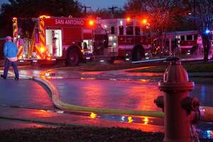 Firefighters found a 39-year-old man dead after a fire at a Southwest Side apartment complex between Gillmore and Cropsey avenues Thursday Dec. 7, 2017.