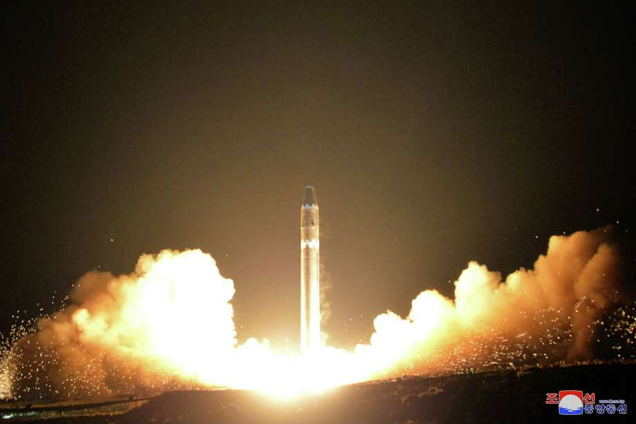 North Korea reportedly has test-fired a brand new intercontinental ballistic missile, which experts said shows a major advance in technology and threat.  Photo: ?????, HOGP / KCNA via KNS