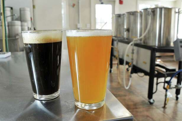 A Rye Porter and a wheat beer in the brewery in Helderberg Brewery at the Carey Institute Thursday, March 3, 2016, in Rennselaerville, N.Y.  (John Carl D'Annibale / Times Union)