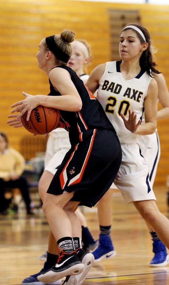 Harbor Beach at Bad Axe — Girls Basketball 2017 Photo: Paul P. Adams/Huron Daily Tribune