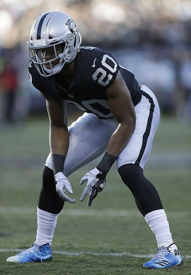 Oakland Raiders safety Obi Melifonwu (20) against the New York Giants during an NFL football game in Oakland, Calif., Sunday, Dec. 3, 2017. (AP Photo/Marcio Jose Sanchez) Photo: Marcio Jose Sanchez, Associated Press