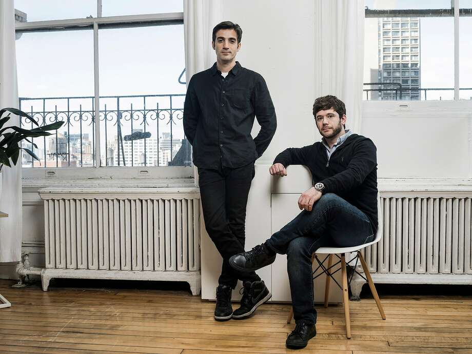 Rus Yusupov (left) and Colin Kroll are the co-founders of HQ Trivia. Photo: SASHA MASLOV, NYT