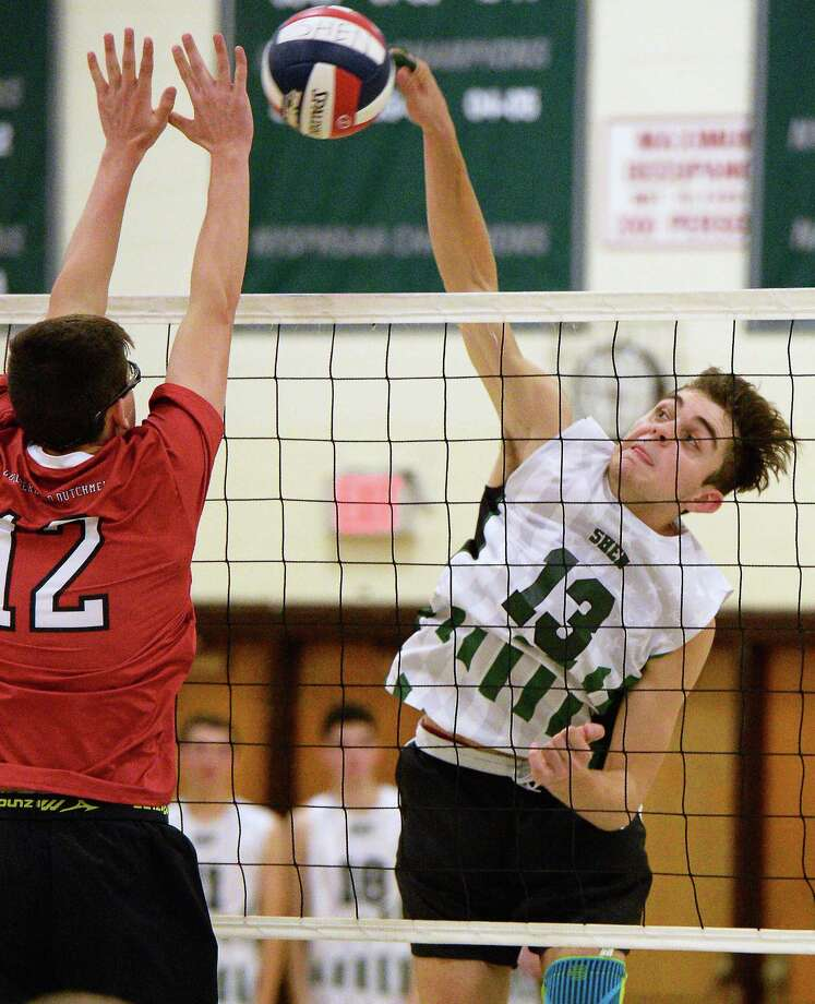 Shenendehowa's #13 Brendan Spulnick during Friday's game against Guilderland  Oct. 13, 2017 in Clifton Park, NY.  (John Carl D'Annibale / Times Union) Photo: John Carl D'Annibale / 20041833A
