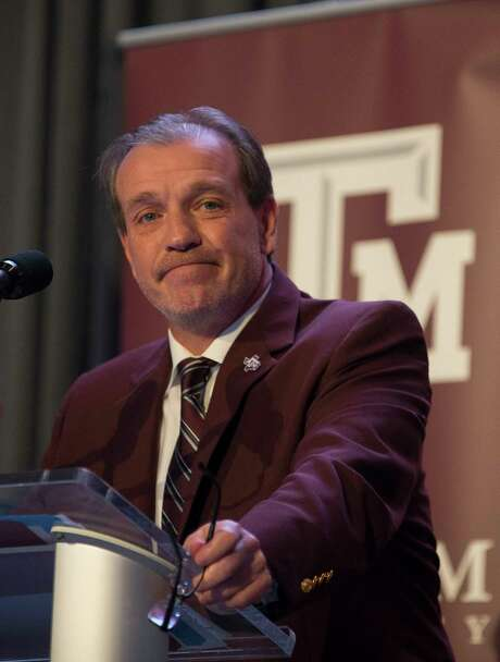 New Texas A&M University head football coach Jimbo Fisher talks during a press conference at the school's Hall of Champions at Kyle Field, Monday, Dec. 4, 2017, in College Station. ( Mark Mulligan / Houston Chronicle ) Photo: Mark Mulligan, Houston Chronicle / © 2017 Houston Chronicle