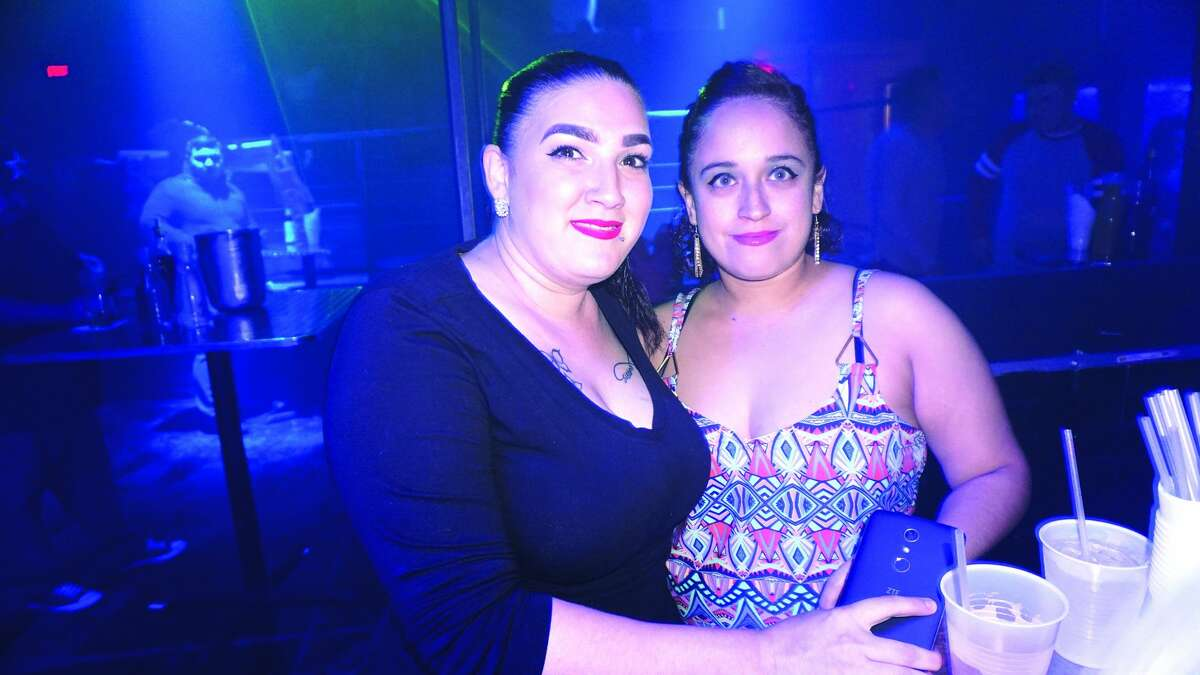 Catherine Santos and Cristina Leven at Club Vibe Friday, December 8, 2017