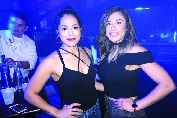 Patricia Padilla and Samantha Flores at Club Vibe  Friday, December 8, 2017