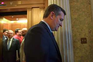 Sen. Ted Cruz, R-Texas, heads to a elevator on Capitol Hill in Washington, Tuesday, Dec. 5, 2017. (AP Photo/Susan Walsh)