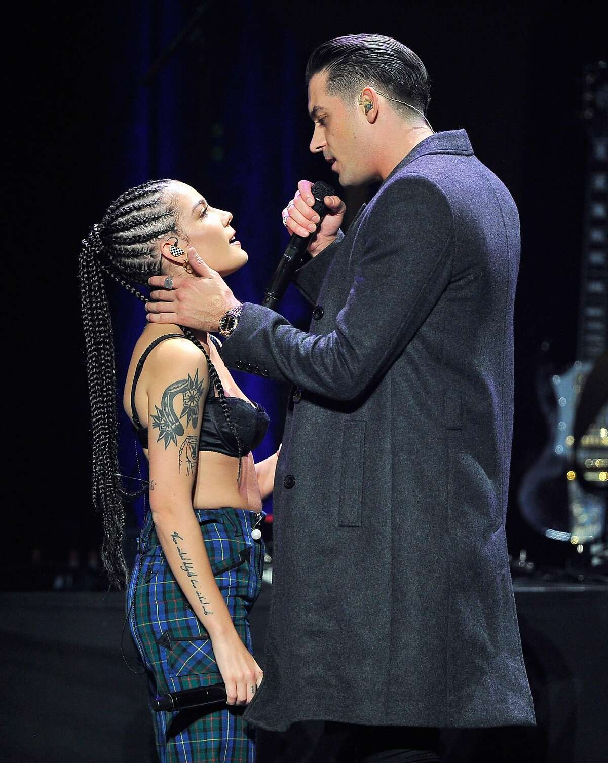 Halsey and G-Eazy at Wild 94.9's Jingle Ball at the SAP Center in San Jose.