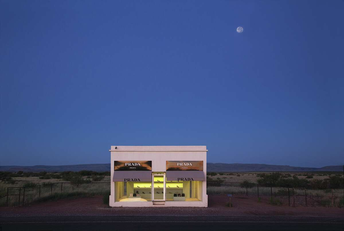Prada Marfa in Valentine. This art installation by artists Elmgreen and Dragset was unveiled in 2005. Since then, it's ben the set for music videos and photo shoots, as well a must-see destination for Texas art fans.