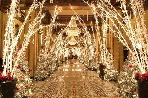 The Waldorf Wonderland is what the Roosevelt New Orleans calls its grandly decorated lobby during the Christmas holidays. The Roosevelt is one of the city's grand hotels that decorates its lobby and public spaces for the Christmas season.
