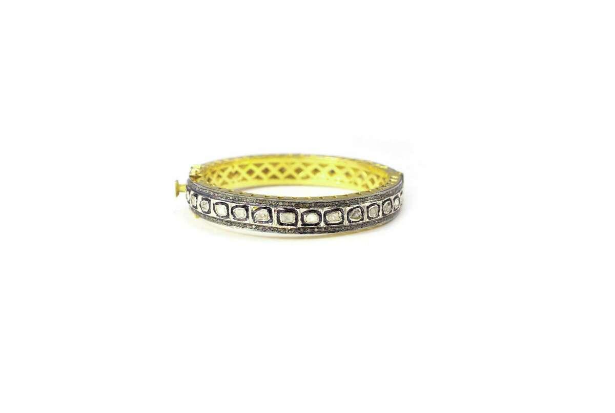 Hammered Brass Druzi Ring, $55, at J. Landa in Rice Village