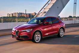 Alfa Romeo says its turbocharged Stelvio takes about 5.4 seconds to sprint from 0-to-60 mph and tops out at 144 mph.