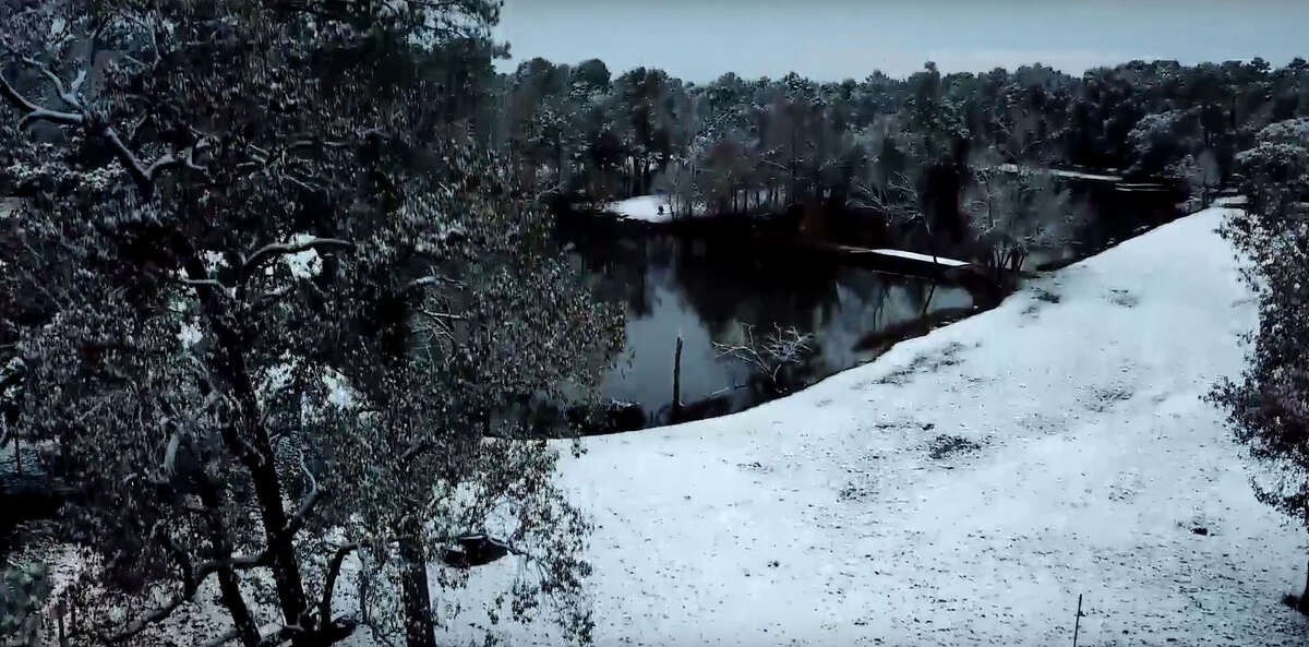 A Cypress man captured the beauty of Houston's snowfall with a drone capable of 4K ultra HD imagery