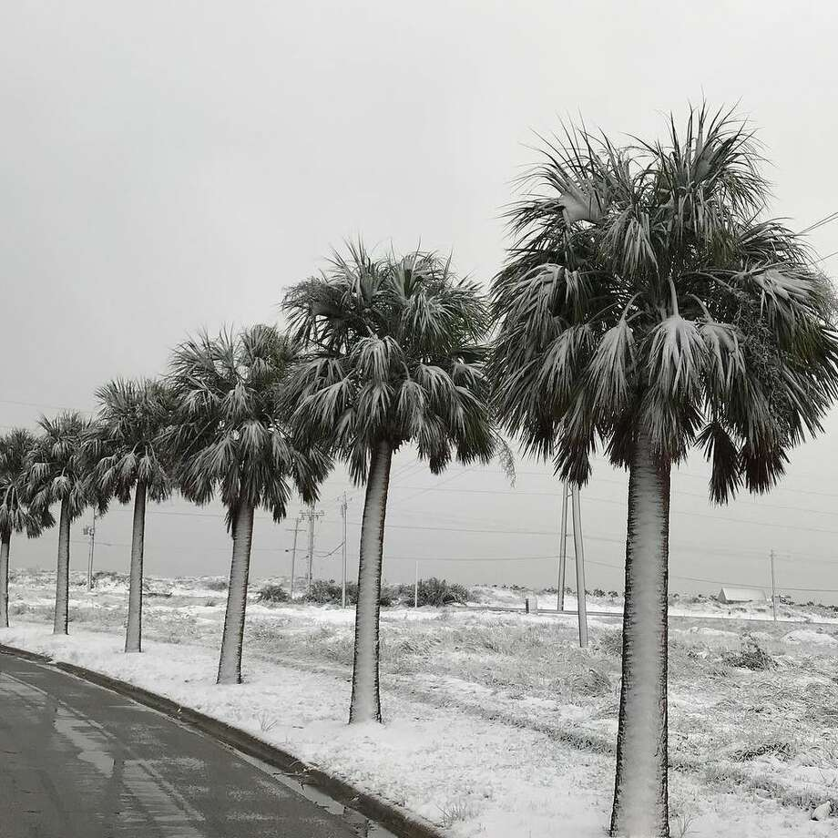 It's a beautiful Winter morning in Port Aransas, complete with #snow. Photo: City Of Port Aransas