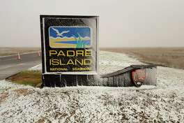 """""""THE BEACH HAS TURNED INTO A WINTER WONDERLAND! The seashore is open today. We recommend using caution when driving to the island due to snow on the highways. Be safe out there! Photos taken at 8:15 am on December 8, 2017."""""""