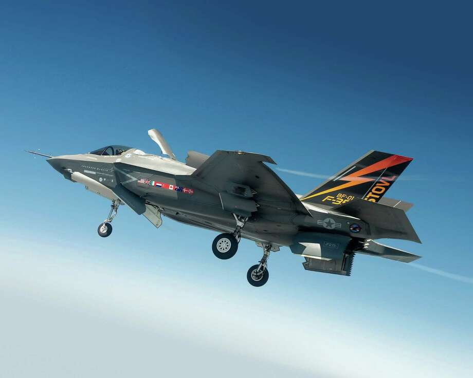 The Marine Corps' version of the F-35 Joint Strike Fighter is designed to land vertically. Photo: Image Courtesy Of Lockheed Martin / The Washington Post