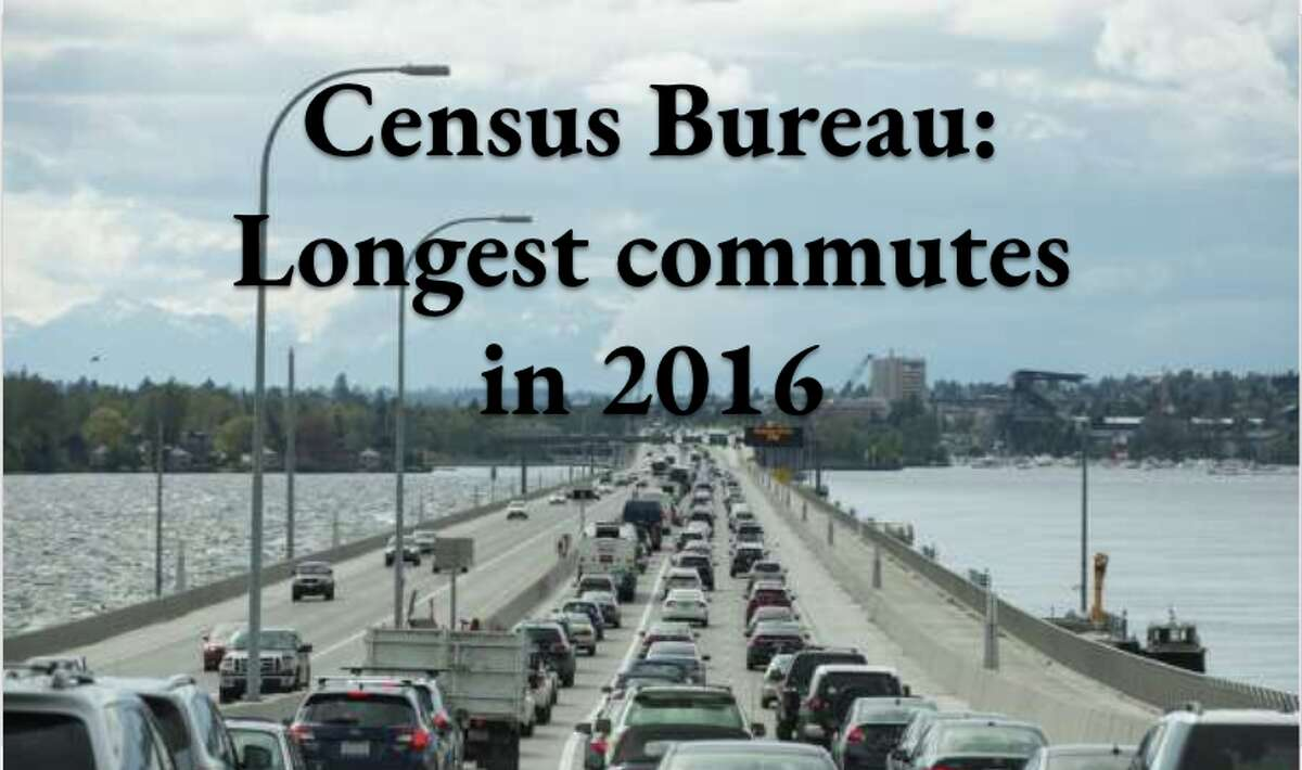 These are the longest commutes times, according to data from the Census Bureau's latest American Community Survey data.