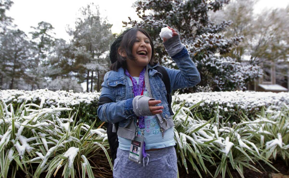 A bout of snow blanketed parts of Montgomery County in 2017. It could happen again Sunday night.