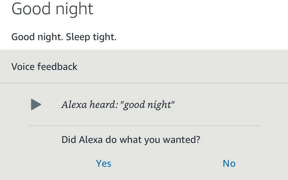 The Amazon Echo records your commands and saves a history of them to Amazon's servers. You can see the history - and listen to what Alexa heard - in the Amazon Alexa app. Photo: Chronicle Screenshot