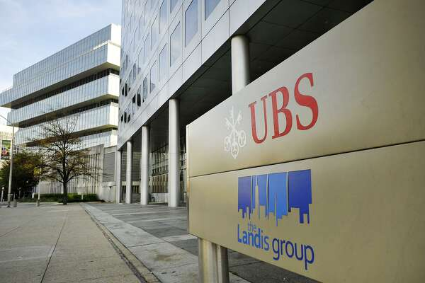 The building at 400 Atlantic Street is seen in Stamford, Conn., on Tuesday, Oct. 28, 2014. Tenants, including UBS, are vacating the building.