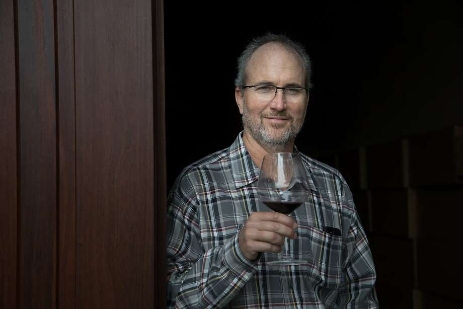 Kevin Harvey, owner of Rhys Vineyards, at the entrance to the wine cave. Photo: Paul Kuroda, Special To The Chronicle