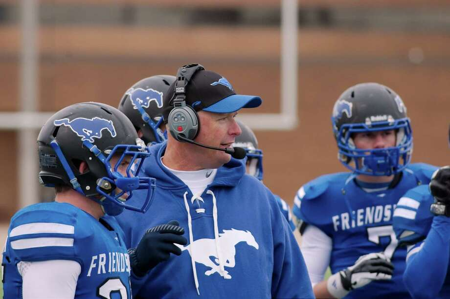 Friendswood head football coach Robert Koopmann said the Mustangs could be headed for a permanent stay in Class 5A after four years of competing admirably in Class 6A. / Kirk Sides
