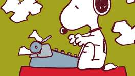 One of the good things about Snoopy is he never stopped writing, even if it was a dark and stormy night.