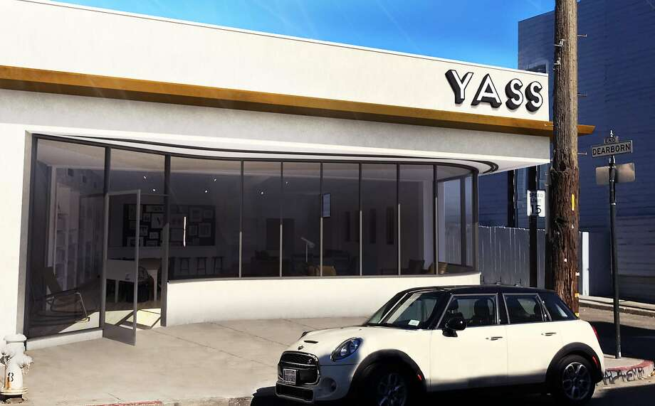 Promotional photos and renderings depict Yass, a planned club for LGBT people in San Francisco's Mission District. Photo: Yass