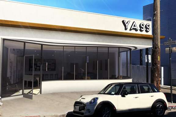 Promotional photos and renderings depict Yass, a planned club for LGBT people in San Francisco's Mission District.