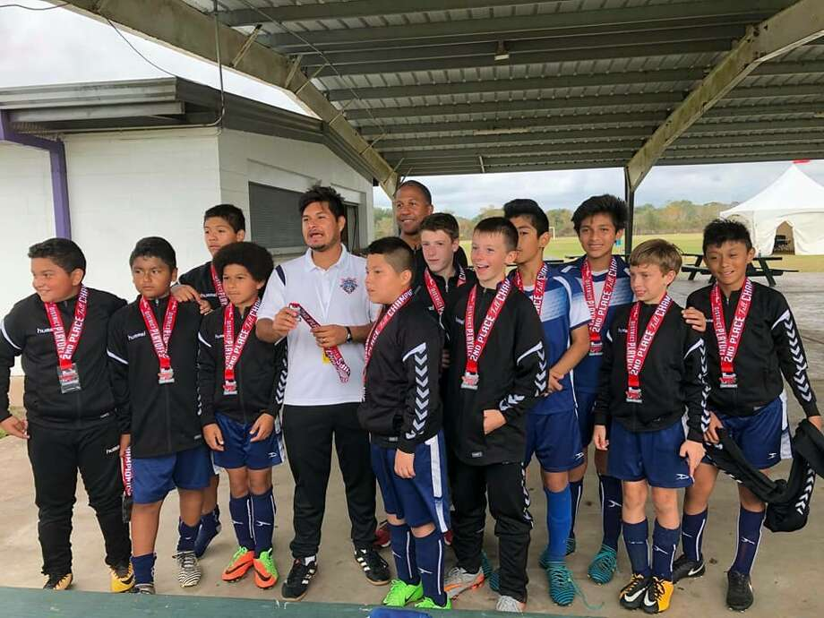 Montgomery Soccer Club's U13 boys travel soccer team recently placed second in its fall district championship. Pictured, left to right: Jorge Arias  Alexi Flores, Kris Jimenez, Elijah Shareef, Jarsi Ibanez, Leonel Perez  Benjamin Dodson, Isaac Shareef, Caleb Heintz, Rodolfo Yahir, Osvalto Rosas, Caden Ashabran, Leonardo Romo. Photo: Submitted Photo