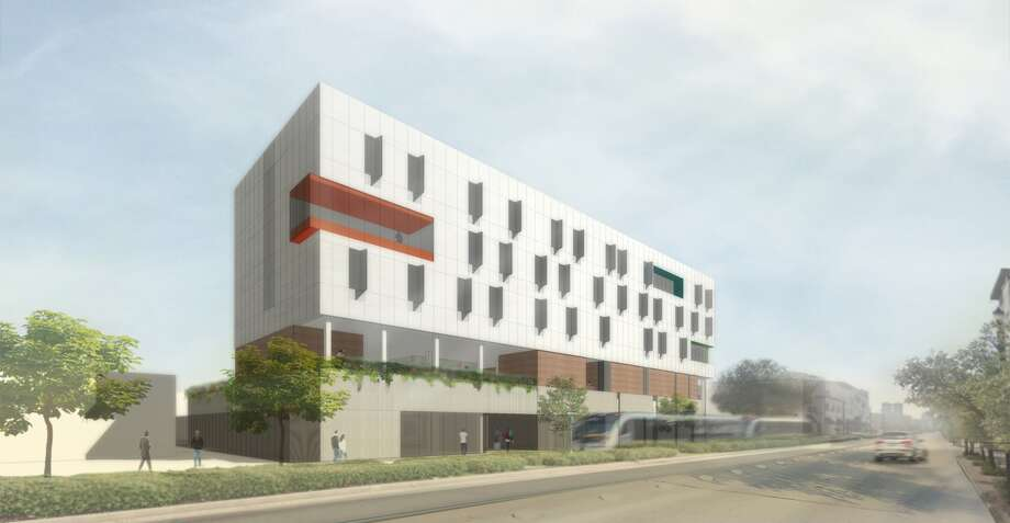 To be completed in 2018, the Recenter would offer affordable housing near public transit -- a double win for Houstonians struggling to get by. Photo: BRAVE / ARCHITECTURE