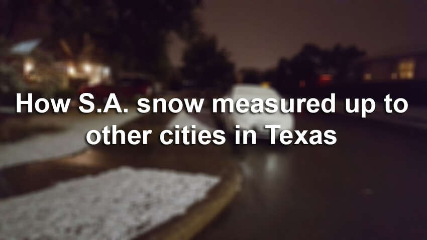 It's only been a few years since San Antonio last saw snow, but it's been a few decades since they the Alamo City saw this much (roughly 2 inches) of it. Click through the slideshow to see how much snow other Texas cities got.